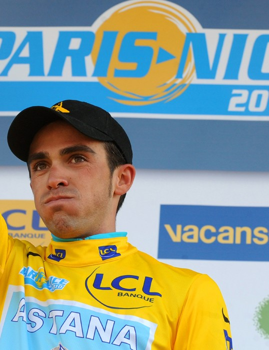 Alberto Contador won't be defending his Paris-Nice title