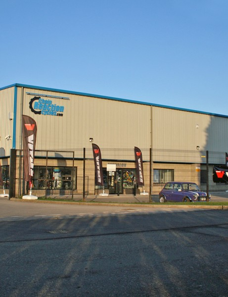 Chain Reaction Cycles are based on an industrial estate in the small village of Doagh, near Belfast