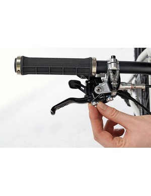 Most levers can be adjusted to bring them closer to the bars, or for braking bite point