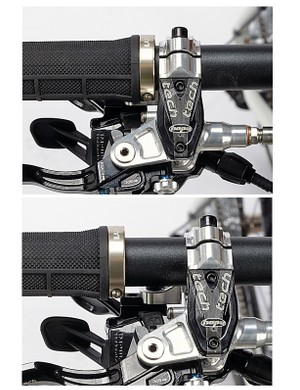 Shift/brake levers don't have to be up against the grips. You can have them wherever you want them on the bars