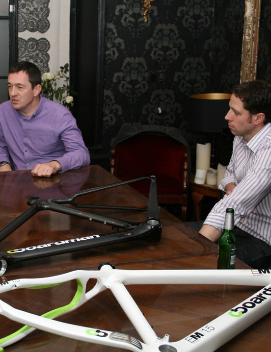 Chris Boardman and director of operations Andy Smallwood talk through the Elite Series