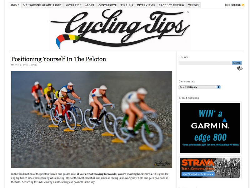 Cycling Tips gives a unique insight into all things road related