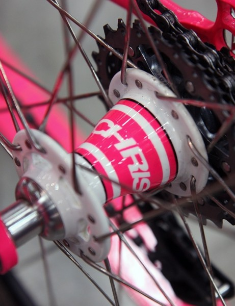 The Chris King R45 hubs are painted to match on this Vanilla Workshop Speedvagen road bike