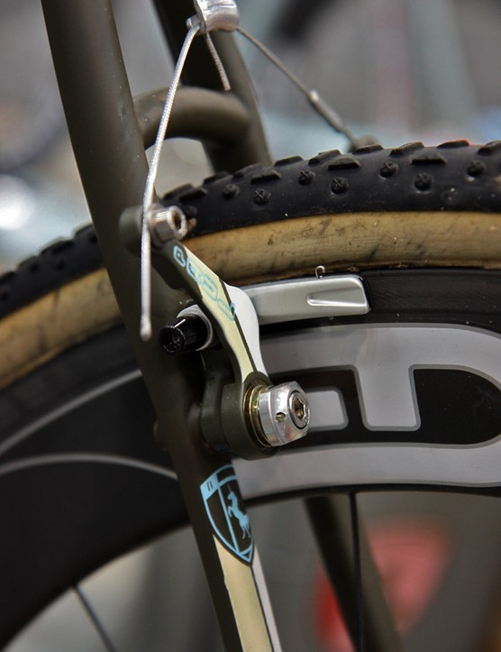 Vanilla use their own brake stud system specifically designed around Paul cantilevers. The custom studs locate the arm much closer to the seatstay for less flex and better braking