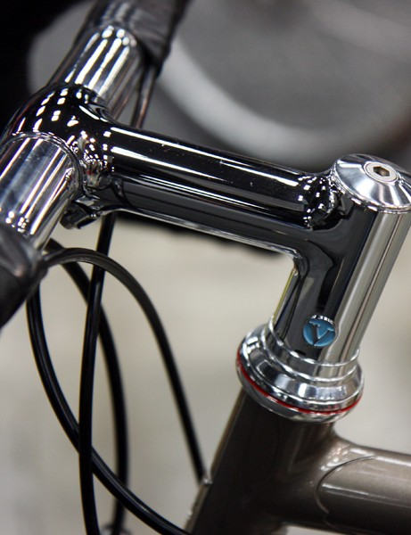 The fillet brazed stem on this Vanilla road bike features a nicely inset