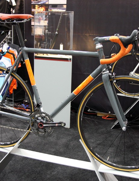 Pegoretti's booth at NAHBS was filled with oversized steel road bikes using both lugged and TIG-welded construction