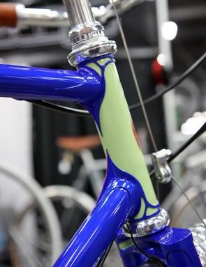 Chris Bishop followed an 'art nouveau' theme when carving the lugs for Brett Horton's bespoke town bike