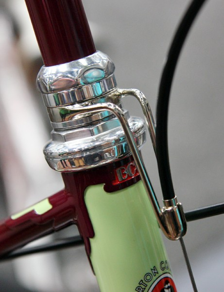 Bilenky Cycle Works fabricated this stunning front brake cable hanger