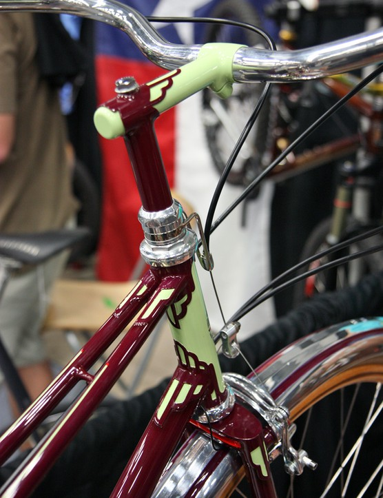Bilenky Cycle Works also crafted the custom bike with an art deco motif