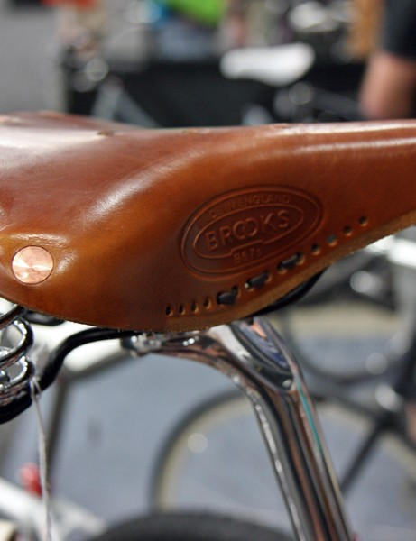 Brooks graciously provided leather saddles outfitted with a few custom changes