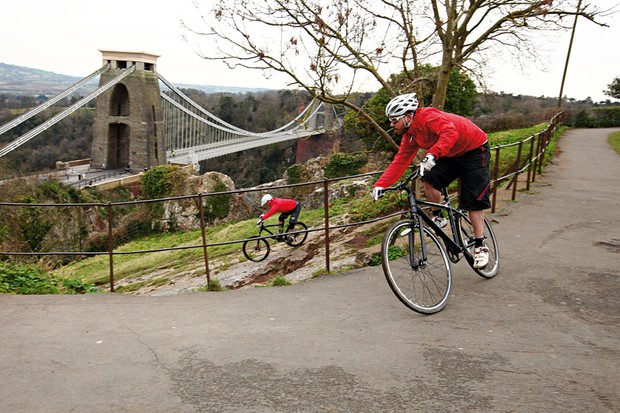 Bristol, England was the setting for the second VooDoo Challenge, starting from just above the city's landmark Clifton Suspension Bridge