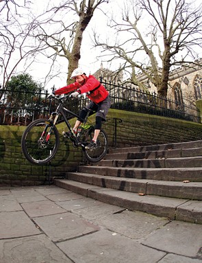 It may have been an urban race, but Rob was still glad to have over 5in of suspension travel on his VooDoo Zobop to soak up the hits
