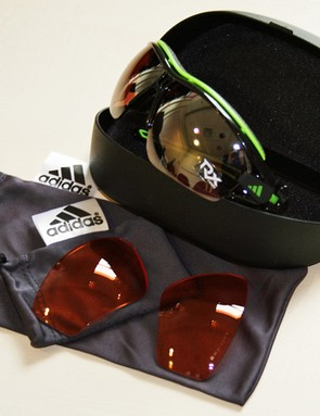 Adidas Halfrim Pro glasses - a hardcase, softcase and two sets of lenses are included