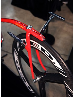 The bars on this Cherubim track bike are attached directly to the fork blades