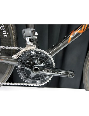 Junior gearing requires the use of Rotor mountain bike chainrings on this very special KirkLee kid's bike