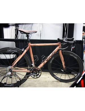 KirkLee say this mahogany-look carbon bike - painted by Darin Wheeler of 2 Wheeler Customs - was included in a collection of