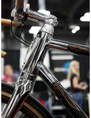 Krencker says the head tube badge is made of
