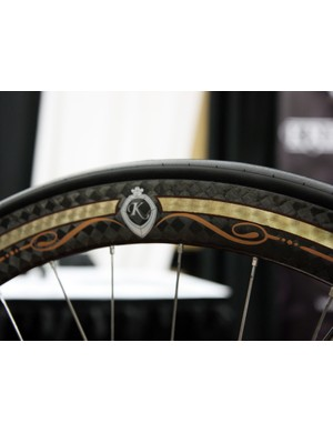 The Corima rims are dressed up with Krencker's own paint
