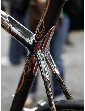 Beautiful chrome covers up the fillet brazing on this Krencker
