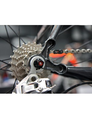 Maietta's dropouts are borrowed from Aaron Hayes of Courage Bicycles and include a replaceable derailleur hanger