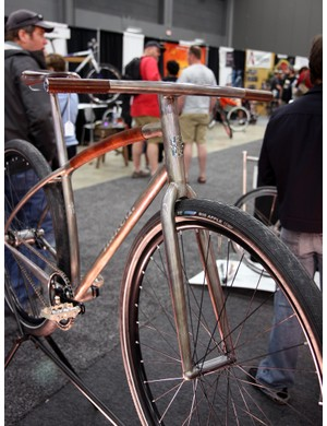 Naked's city bike was simply stunning with almost no visible hardware. Absolutely gorgeous - and well deserving of this year's