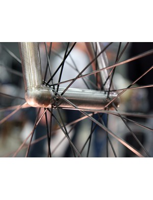 Even the custom front hub on Naked's city bike sports a highly simplistic profile