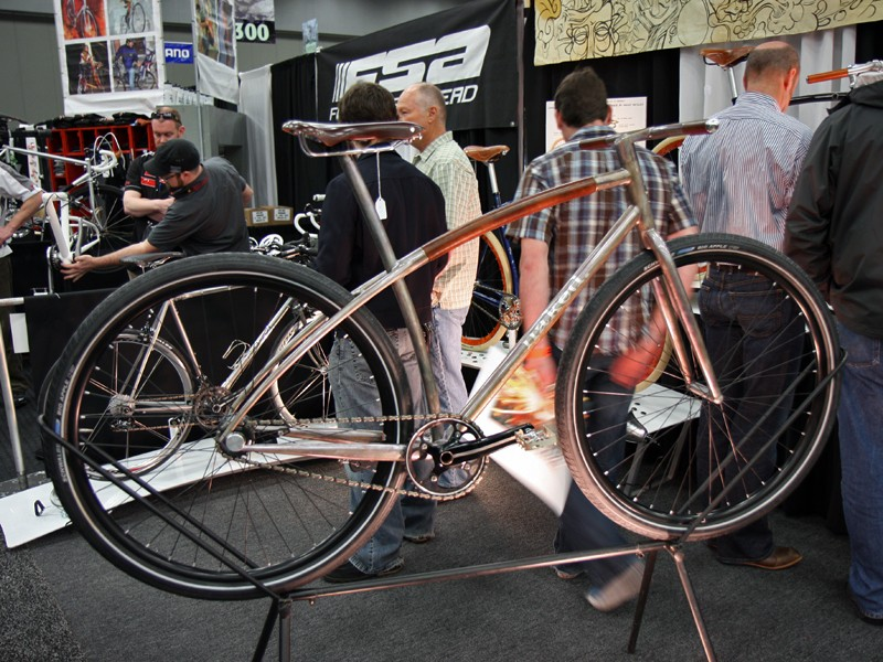 """Sam Whittingham says the inspiration for this year's NAHBS showpiece was simplicity: """"How clean could a bike be?"""""""
