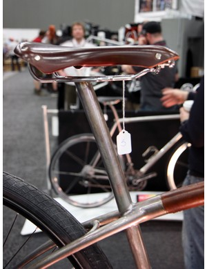The integrated seatmast on Naked's city bike has no provisions for height adjustment