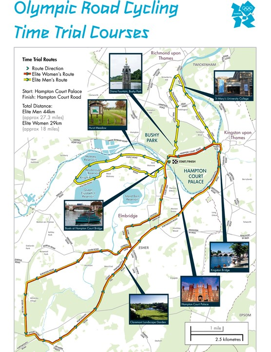 2012 Olympic Games time trial routes