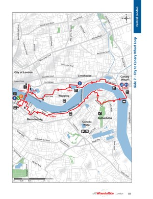 A sample route from Where To Ride: London