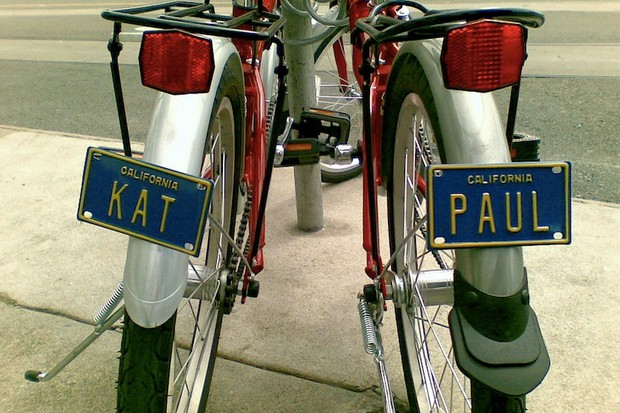 New York proposed that bikes sport the real license plates, complete with registration fees and inspection