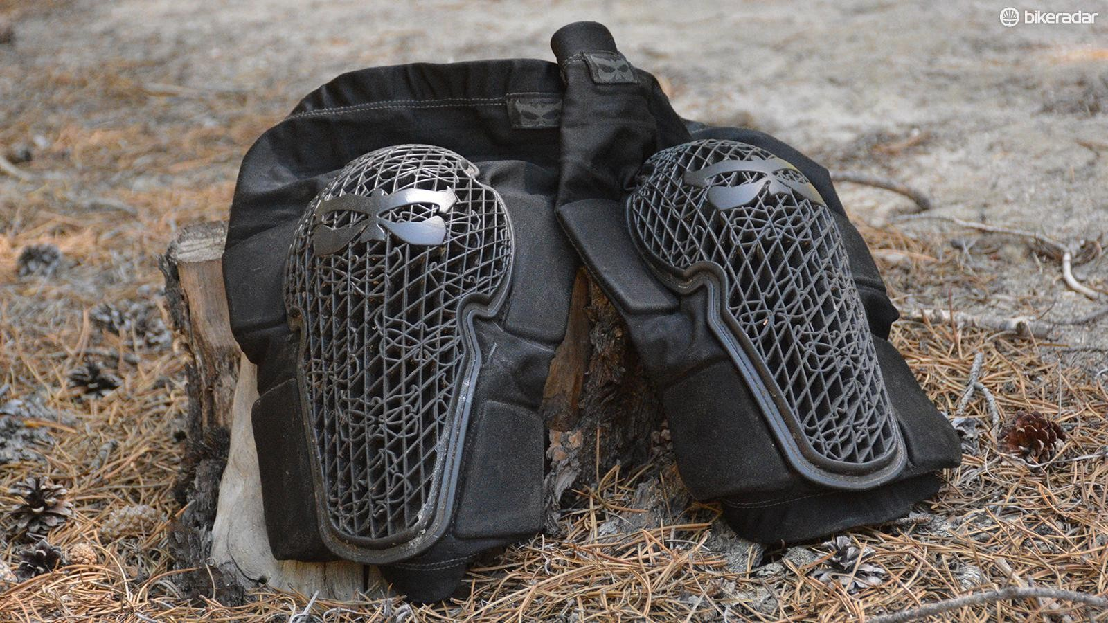 Kali's Strike knee pads have a material that hardens upon impact for the big hits