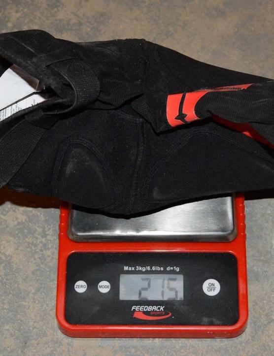 215 grams for each Raid pad