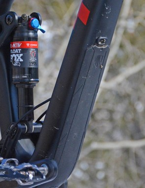 Trek's Carbon Armor protects the down tube from trail shrapnel