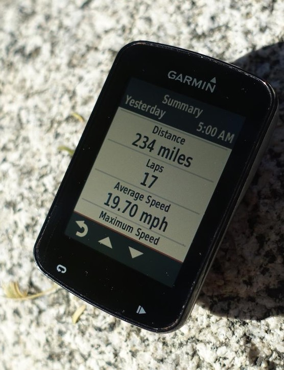 Garmin's Edge 820 easily lasted the 12 hours and displayed vital information throughout the day without taking up a lot of space