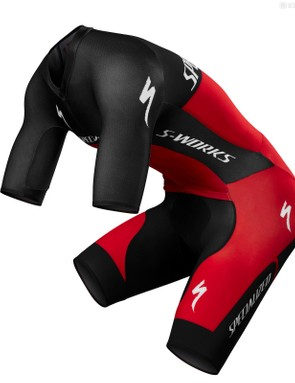 Specialized's Evade GC skinsuit has a great chamois, a tight aero fit and three pockets that carried a phone (as required by the race rules) and race food