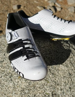 Giro's Factor Techlace were comfortable throughout the day. As my feet swelled over the day it was easy to open the shoes incrementally thanks to the BOA closure and Giro's new Techlace system