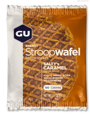 GU's Stroopwafels, in addition to bananas, were key to my race food plan. They never bothered my stomach and created a foundation for the gels and liquids that followed