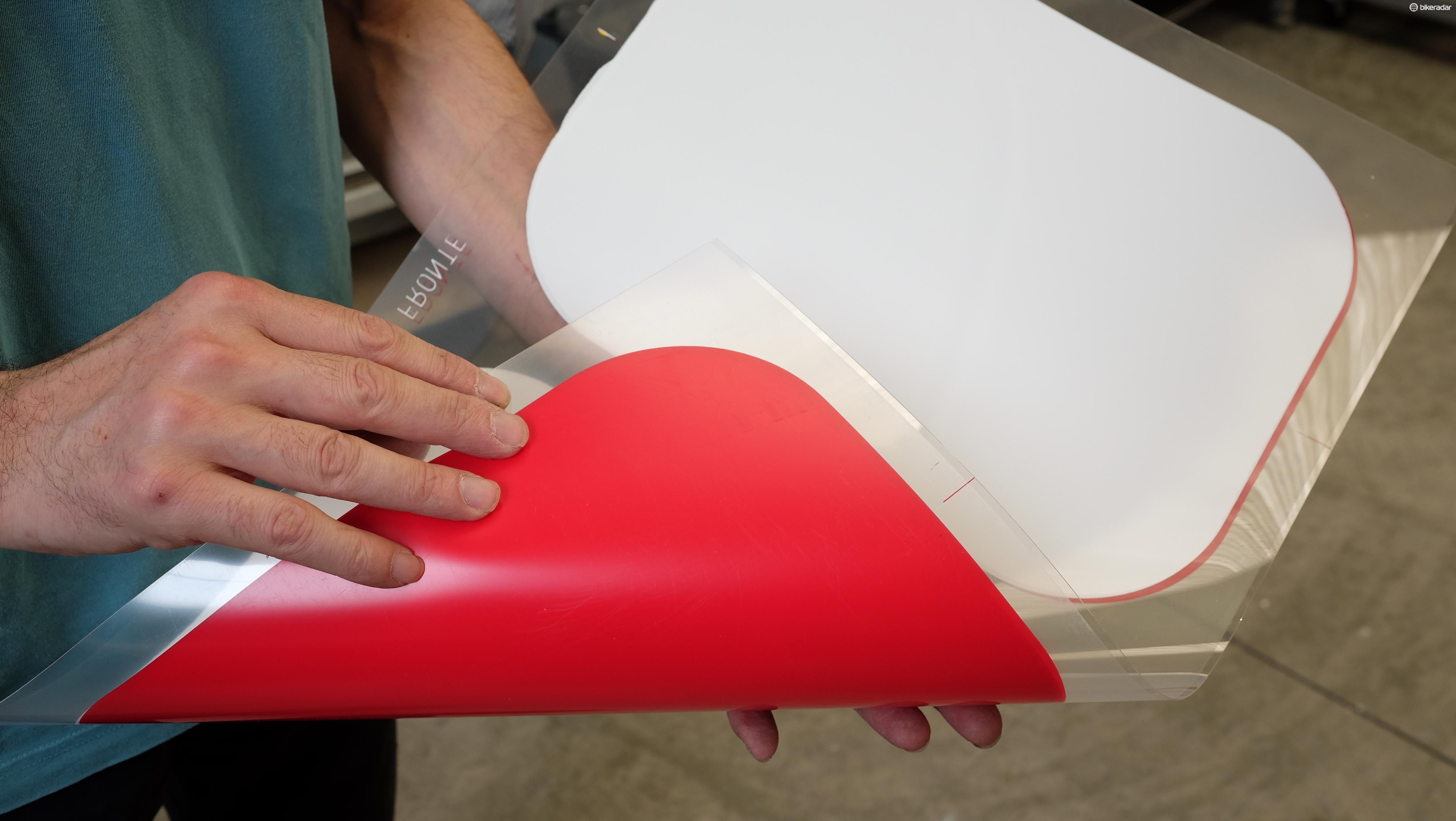 Once the correct finish is achieved the polycarbonate is then ready for vacuum forming
