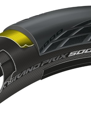 The clincher version of the GP 5000 ditches the airtight liner