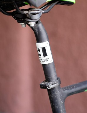 The 25.2mm seatpost helps deliver more than adequate levels of compliance