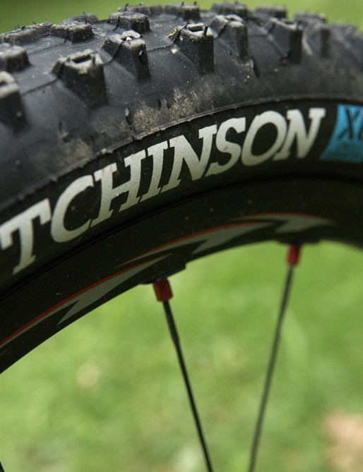 This Hutchinson tyre is a special soft compound edition  and was perfect for the unpredictable Schladming course last month.