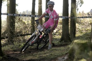 Lene Byberg wore this bright pink outfit before donning her Norwegian champion's colours