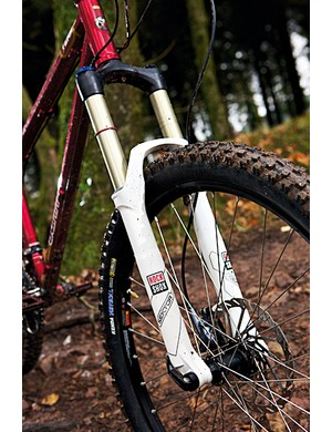 RockShox's Sektor fork is more more than happy to take the hits