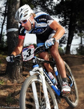 Jeremy Horgan-Kobelski was spotted on a new 29er fork from RockShox this past weekend