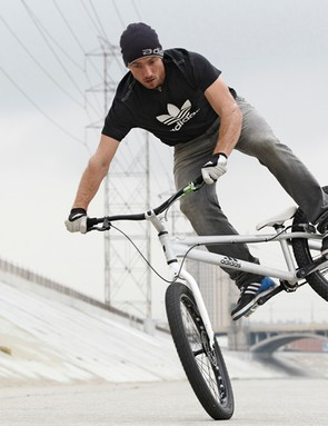 Belgian trials star Kenny Belaey appears in the latest Adidas TV ads