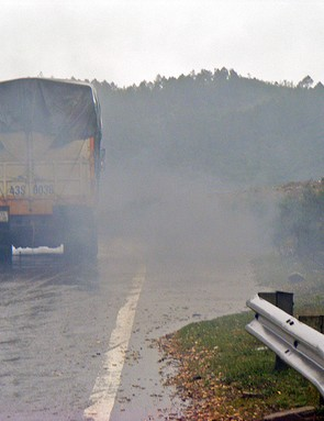 Highway 1 in Vietnam proved to be one of his tougher challenges