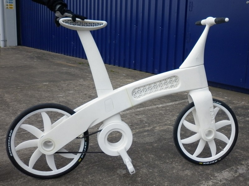 The Airbike is made entirely of nylon, including the moving parts