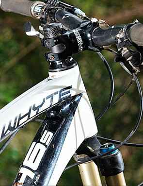carbon frame and bars help shed weight