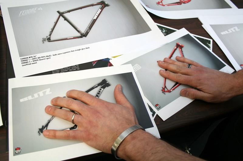 Vitus designer Brant Richards is keeping his new full-supension bikes under wraps...